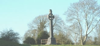Memorial cross on the site of the Battle of Aughrim