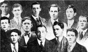Composite picture of the twelve East Cork Brigade men who fell in the fight at Clonmult